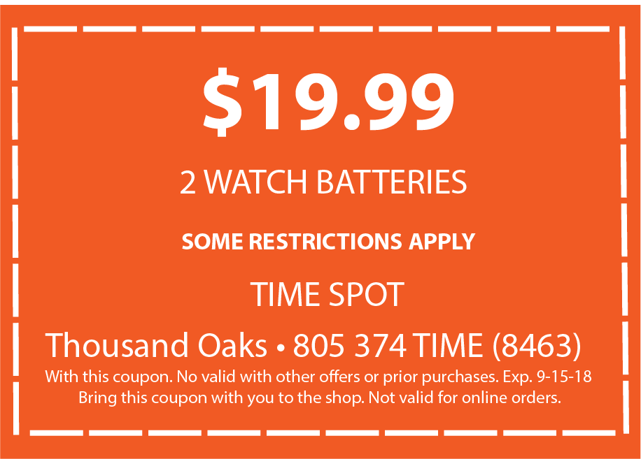 Battery Replacement - Time Spot Watches